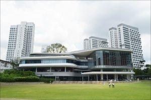 Exterior photo of the National University of Singapore